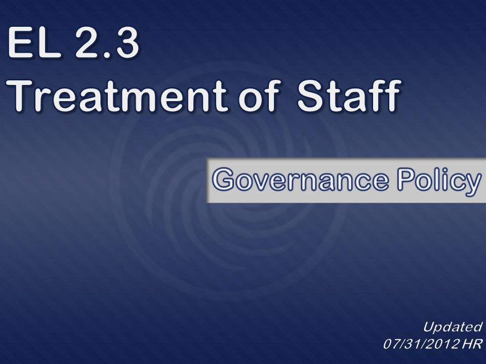 Next we will have an overview of Human Resources Administrative Policies that provide protection to staff.