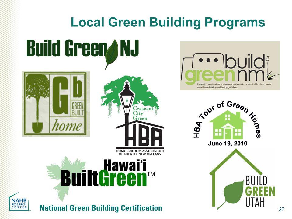 27 Local Green Building Programs