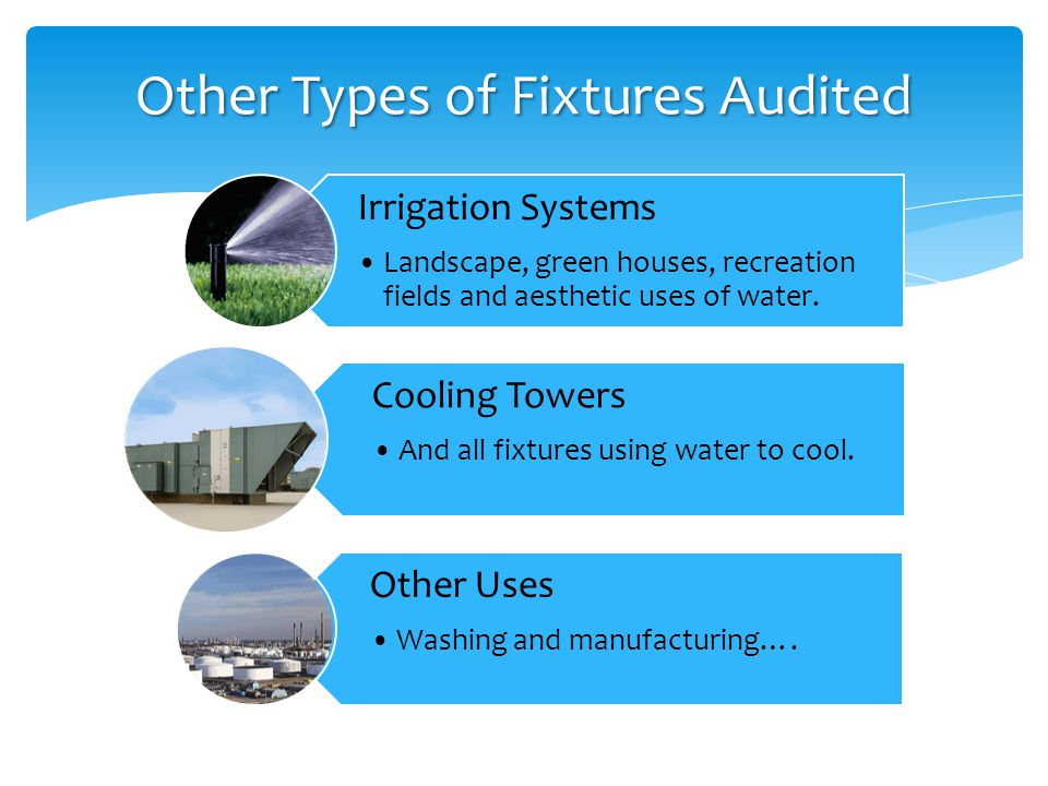 Irrigation Systems Landscape, green houses, recreation fields and aesthetic uses of water.