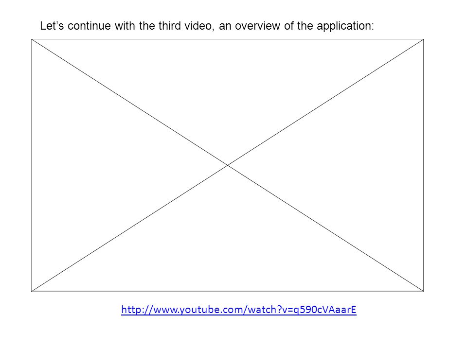 Let's continue with the third video, an overview of the application: http://www.youtube.com/watch v=q590cVAaarE