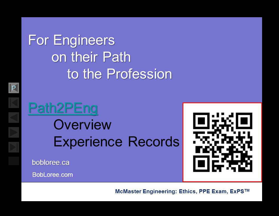 Soar with Science McMaster Engineering: Ethics, PPE Exam, ExPS TM P For Engineers on their Path on their Path to the Profession to the Profession Path
