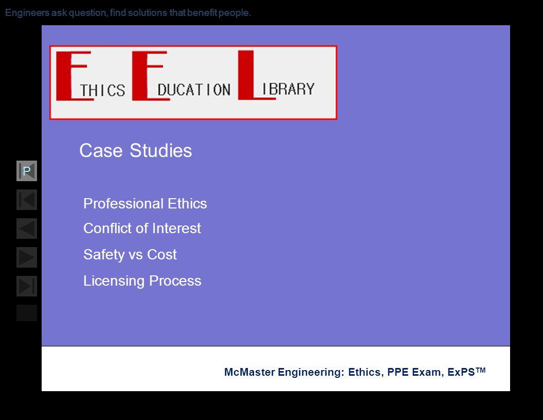 PSU Ethics - Case Studies | General Engineering Cases