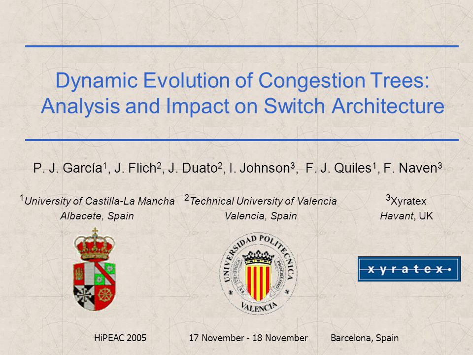 Dynamic Evolution of Congestion Trees: Analysis and Impact on Switch Architecture P.