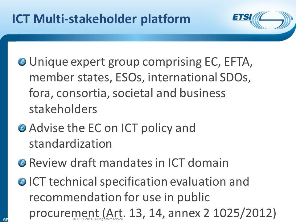 SEM26-01 Aim of the RTTE Directive © ETSI 2014.
