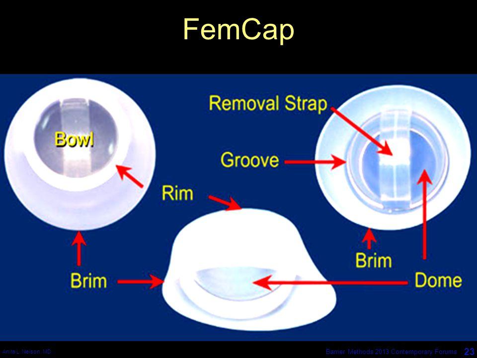 Anita L. Nelson, MD 23 Barrier Methods 2013 Contemporary Forums FemCap