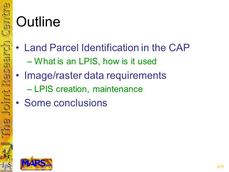 4/11 LPIS in the CAP: Olive trees Regulations: Regs.