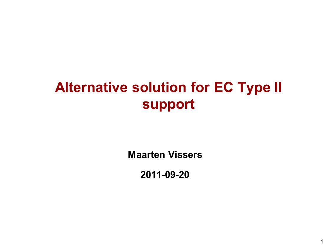 1 Alternative solution for EC Type II support Maarten Vissers 2011-09-20
