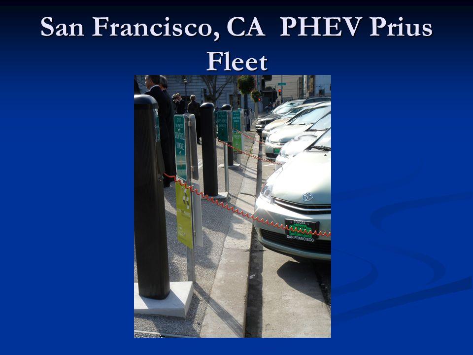 San Francisco, CA PHEV Prius Fleet