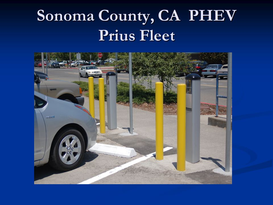 Sonoma County, CA PHEV Prius Fleet