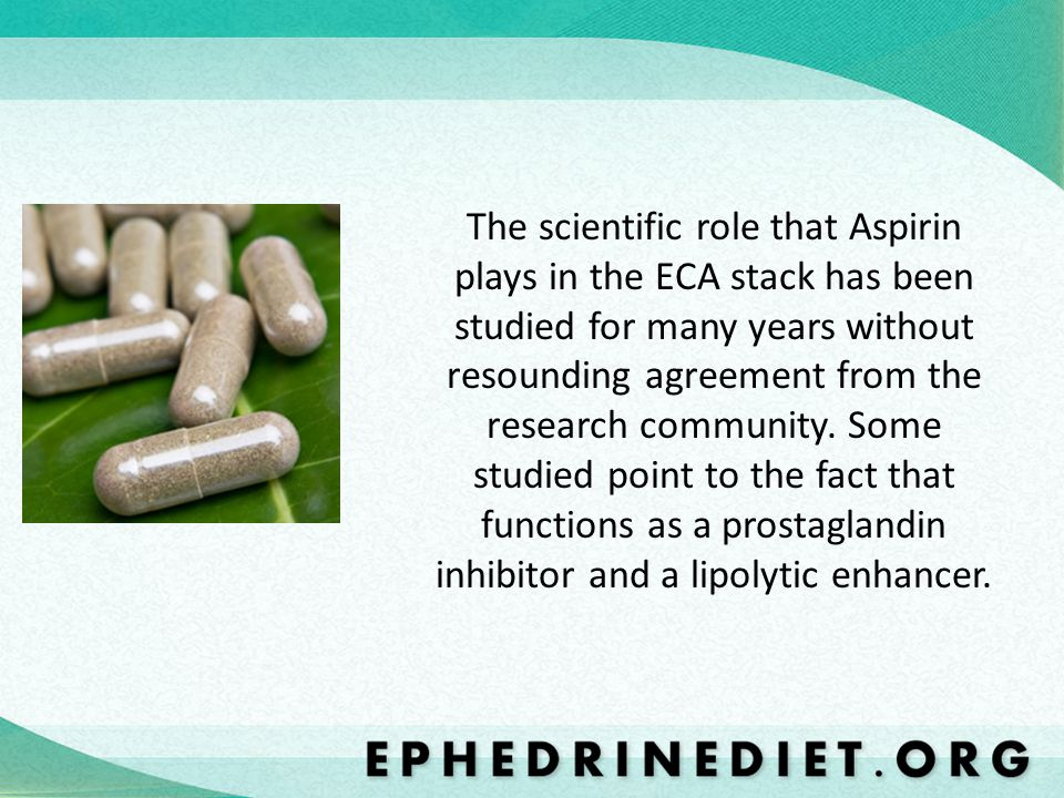 The scientific role that Aspirin plays in the ECA stack has been studied for many years without resounding agreement from the research community.