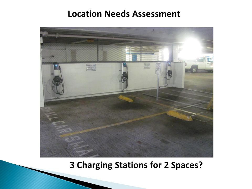 Location Needs Assessment 3 Charging Stations for 2 Spaces