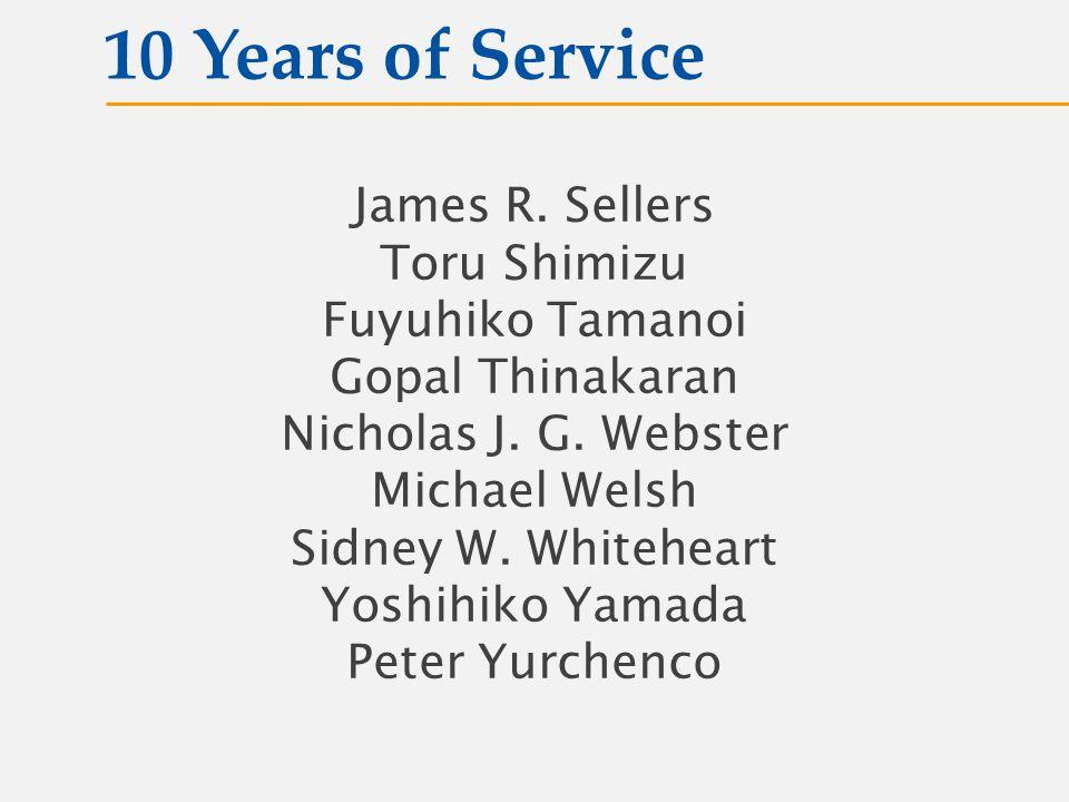 James R. Sellers Toru Shimizu Fuyuhiko Tamanoi Gopal Thinakaran Nicholas J.