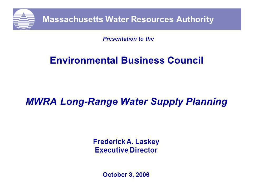 12 Cushion for Partially-Supplied Communities DEP & Standard Practice Safe Yield WMA Registration MWRA Practice Safe Yield MWRA 5-Year Average Demand Cushion for Partial Communities Communities With Active Interest 230 240 250 260 270 280 290 300 310 320 330 340 350 220 MWRA Current Demand Projected Growth to 2030 Water Available to Non-MWRA Communities with Deficits