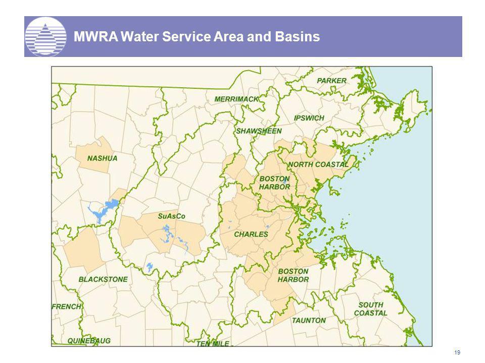 19 MWRA Water Service Area and Basins