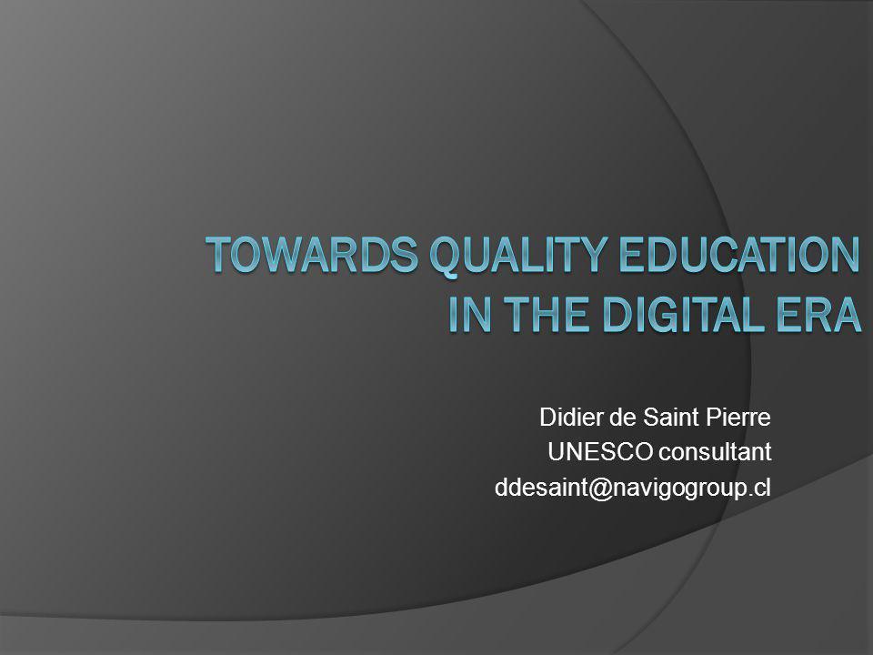 Didier de Saint Pierre UNESCO consultant ddesaint@navigogroup.cl