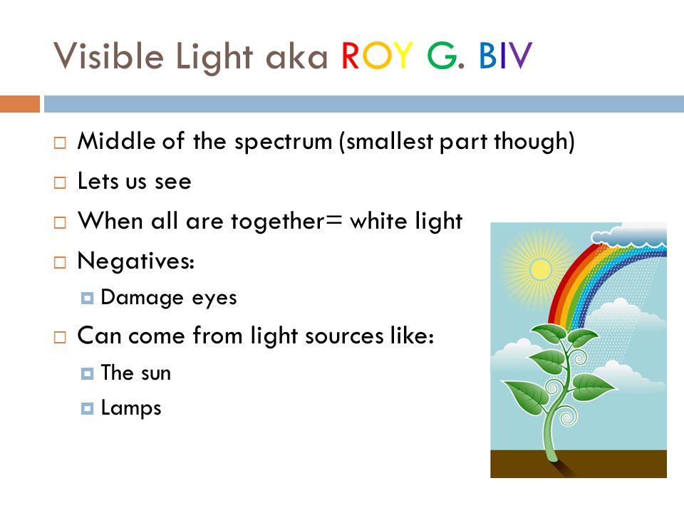 Visible Light aka ROY G.