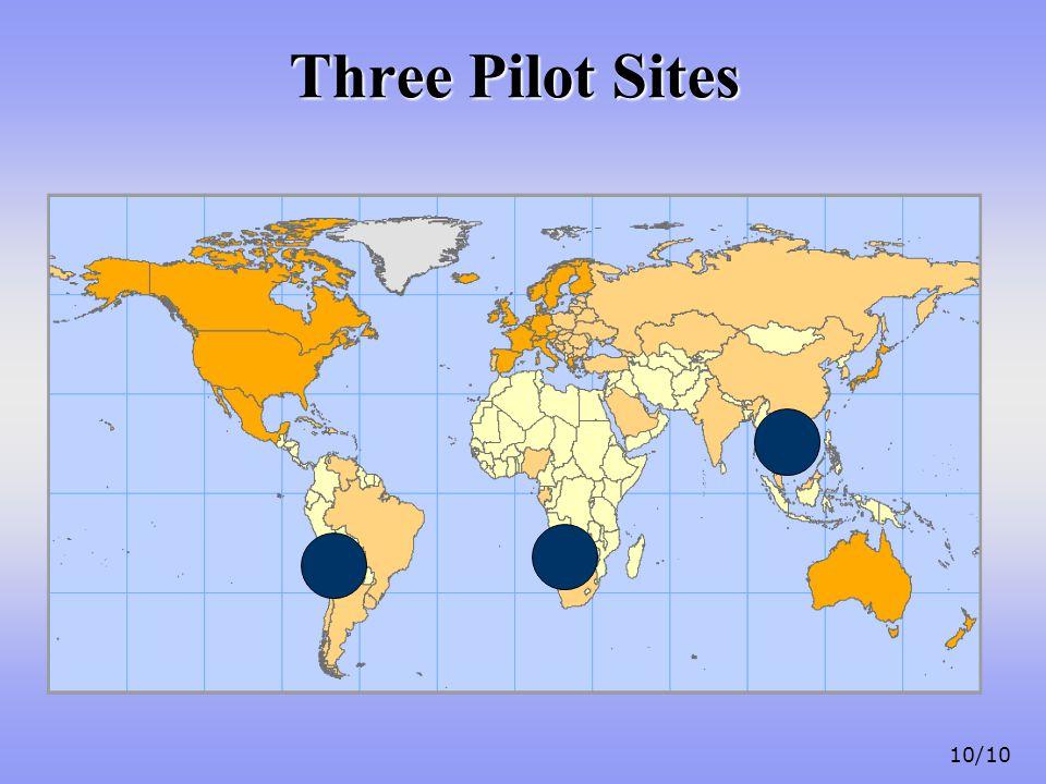 10/10 Three Pilot Sites