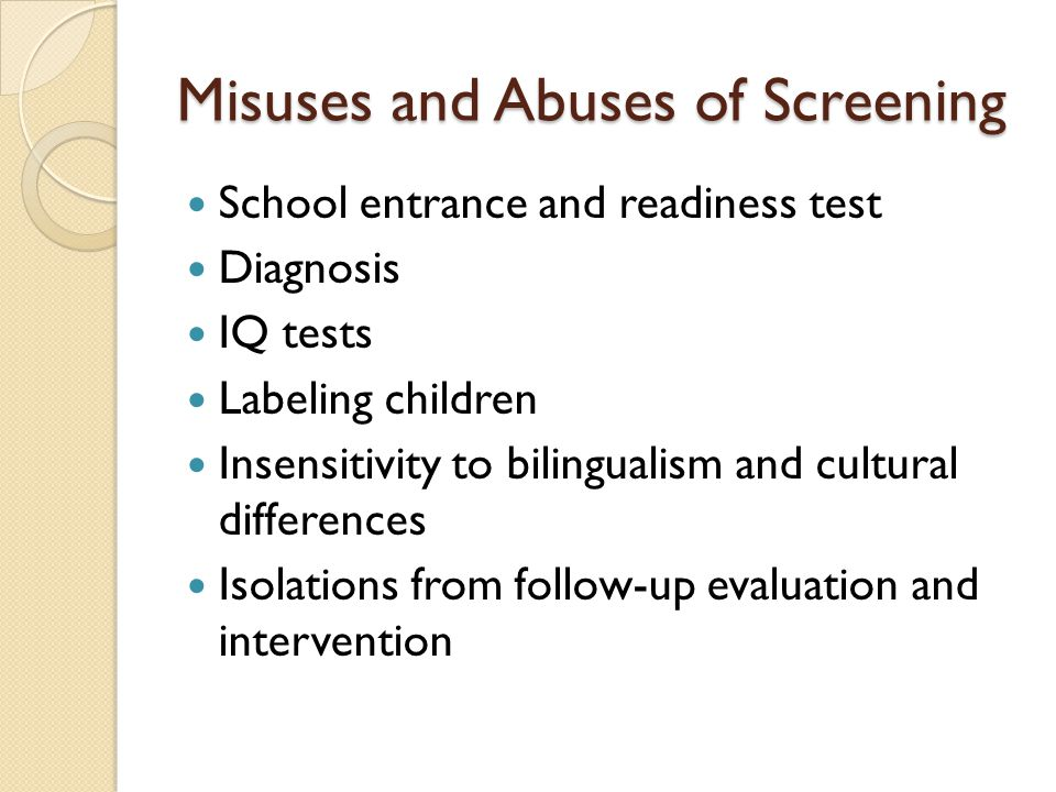 Early Screening Inventory Valid and Reliable ESI is valid and was standardized with 6,000 children.
