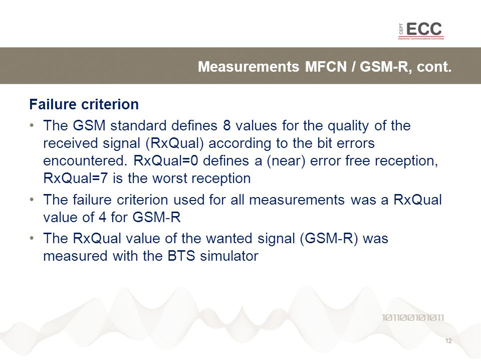 Measurements MFCN / GSM-R, cont.