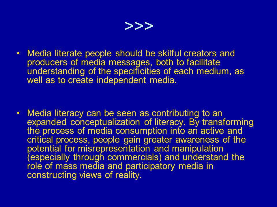 Approaches to media literacy policy by scholars and researchers Stress on protection and promotions of public Audience.