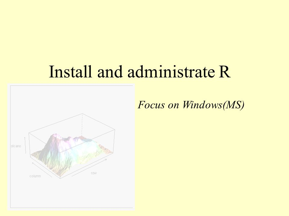 Install and administrate R Focus on Windows(MS)