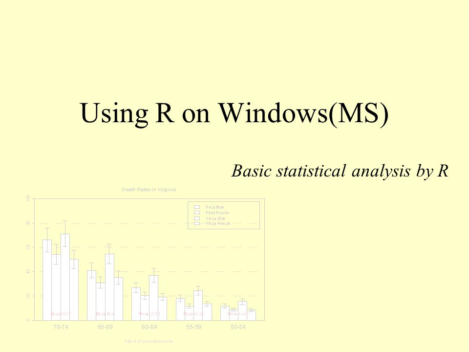 Using R on Windows(MS) Basic statistical analysis by R