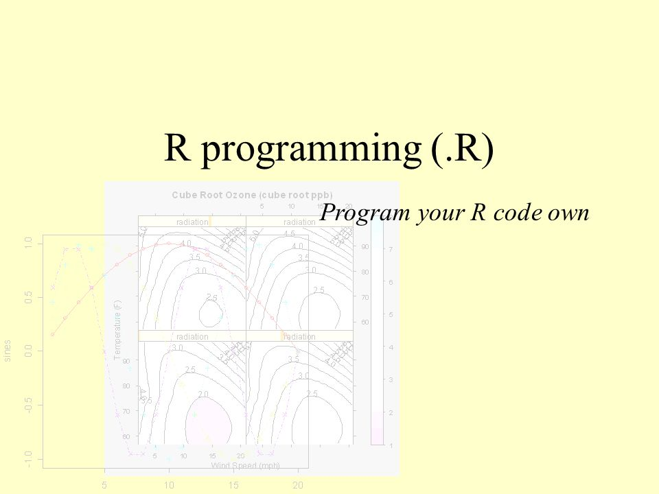 R programming (.R) Program your R code own
