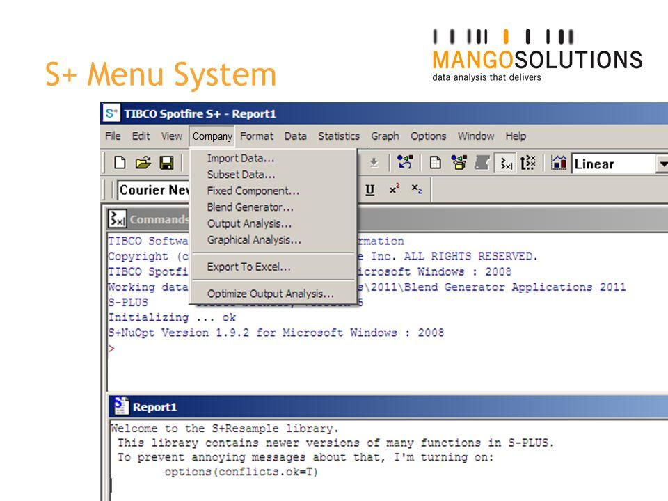 S+ Menu System