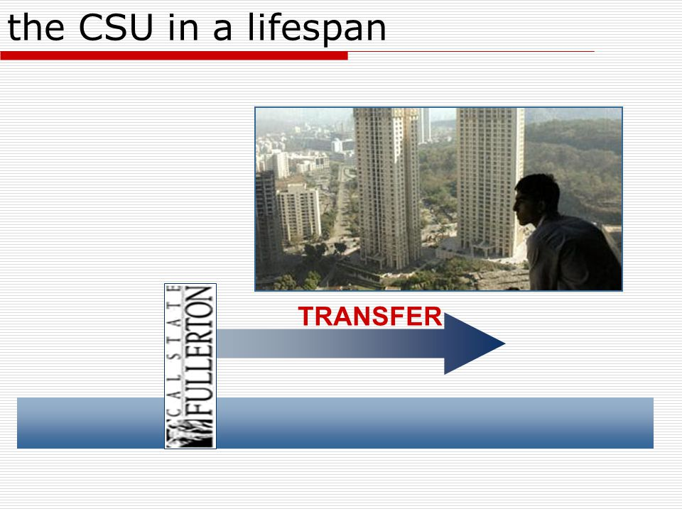the CSU in a lifespan TRANSFER