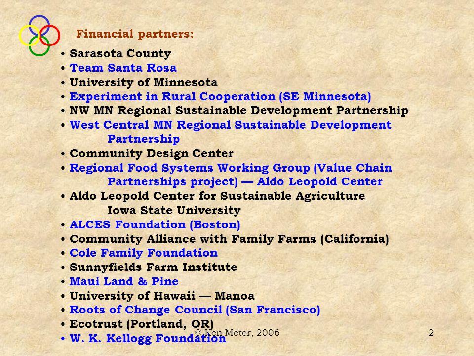 © Ken Meter, 200633 What is the region's energy market?