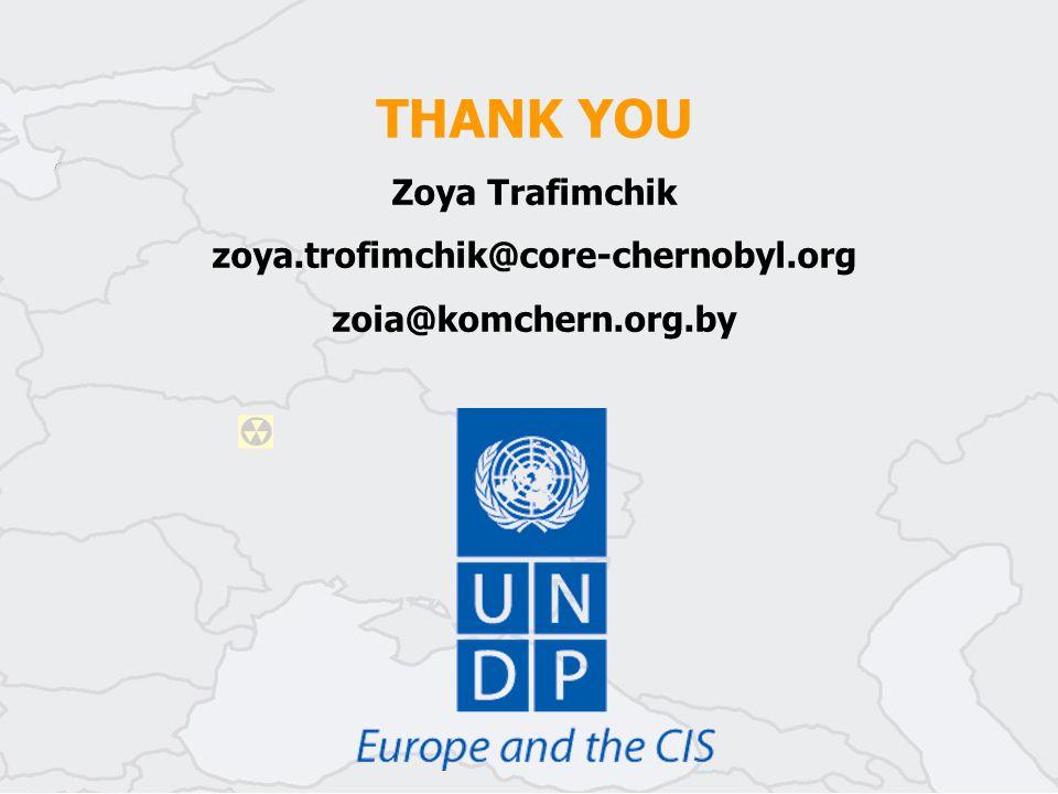 THANK YOU Zoya Trafimchik zoya.trofimchik@core-chernobyl.org zoia@komchern.org.by
