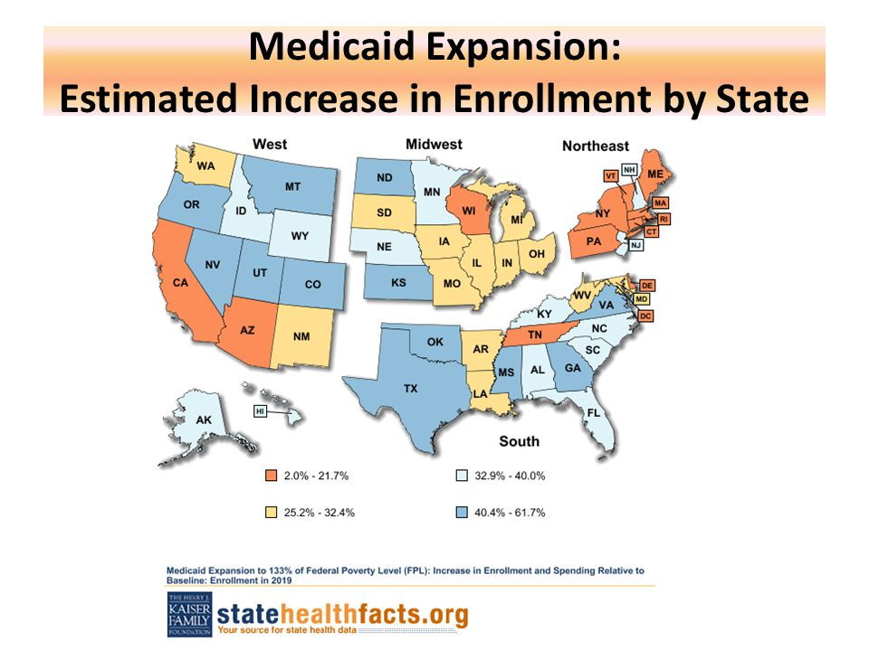 Medicaid Expansion: Estimated Increase in Enrollment by State