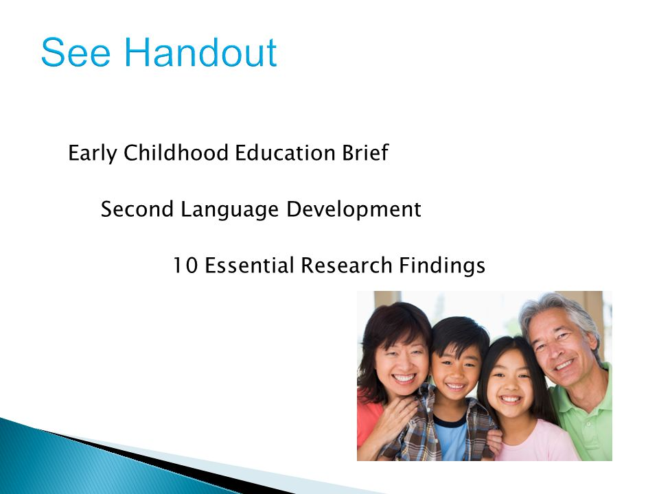 Early Childhood Education Brief Second Language Development 10 Essential Research Findings