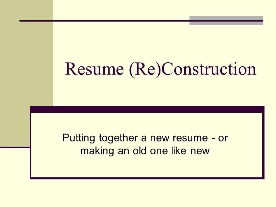 Why Make a Resume.