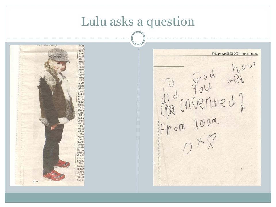 Lulu asks a question