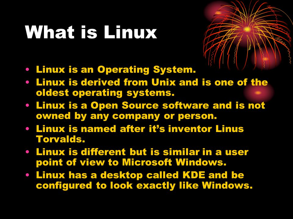 Why a computer needs an Operating System A operating system (OS) controls all aspects of a computer.