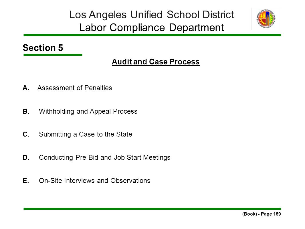 Section 5 Audit and Case Process A.Assessment of Penalties B.