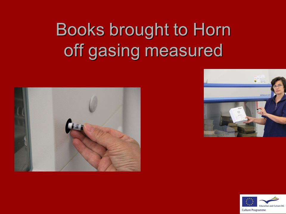 Books brought to Horn off gasing measured
