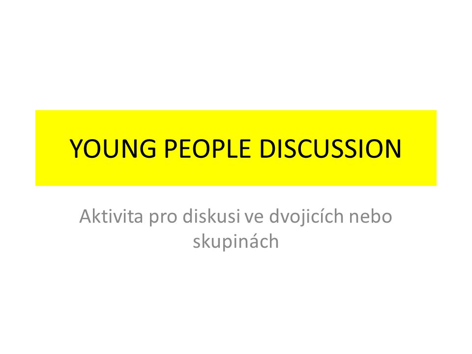 Problems of young people – can you identify them? – use your fantasy!! Maybe it is..., it might be…