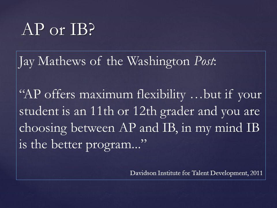 AP or IB.