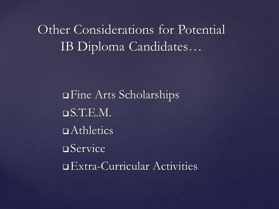  Fine Arts Scholarships  S.T.E.M.