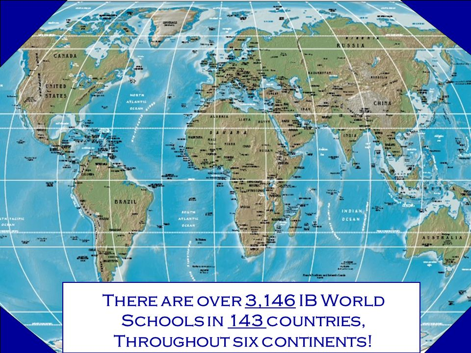 Coral Gables Senior High School Celebrating Over Years As An IB - Six continents of the world