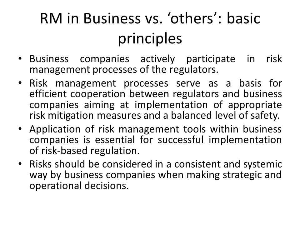RM in Business vs.