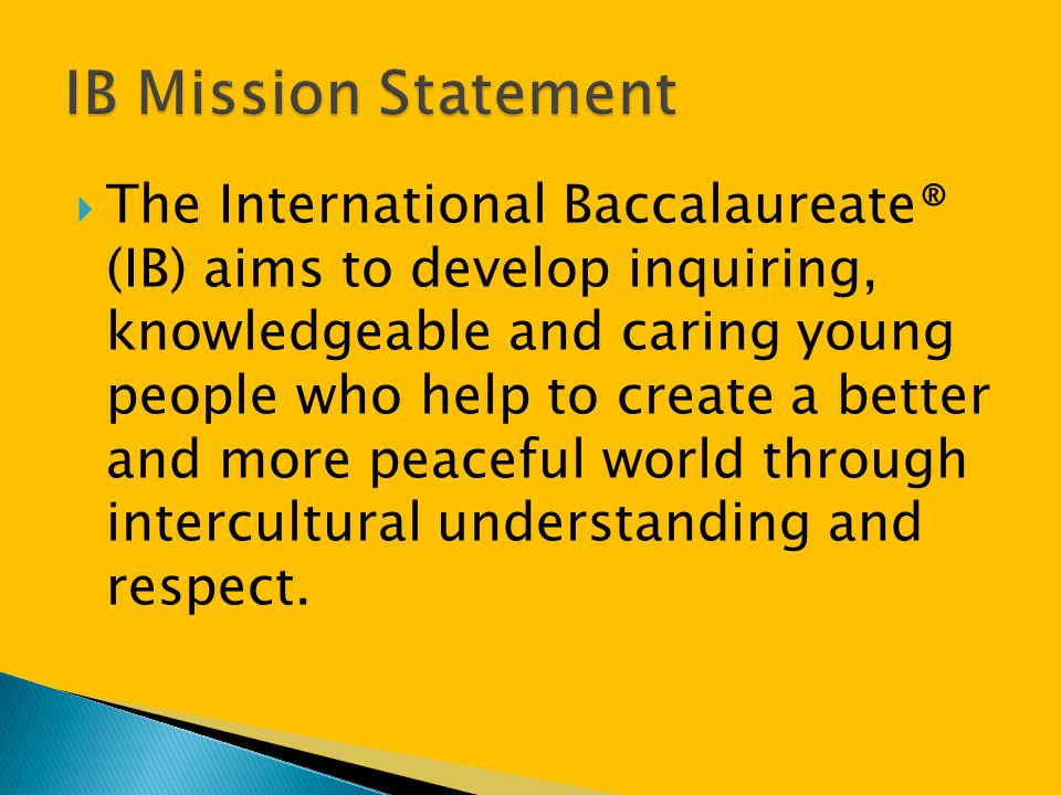 Page 34 2-3 IB Diploma courses IB Core: approaches to learning; reflective project; community service; language development Vocational qualifications offered by school