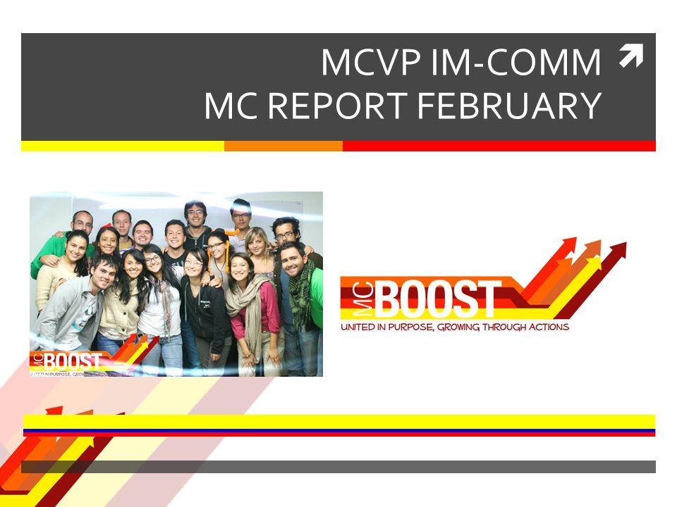  MCVP IM-COMM MC REPORT FEBRUARY United in Purpose, Growing through Actions
