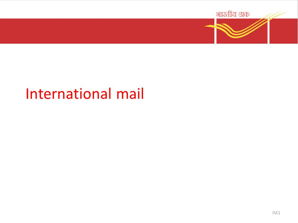 International mail IM1
