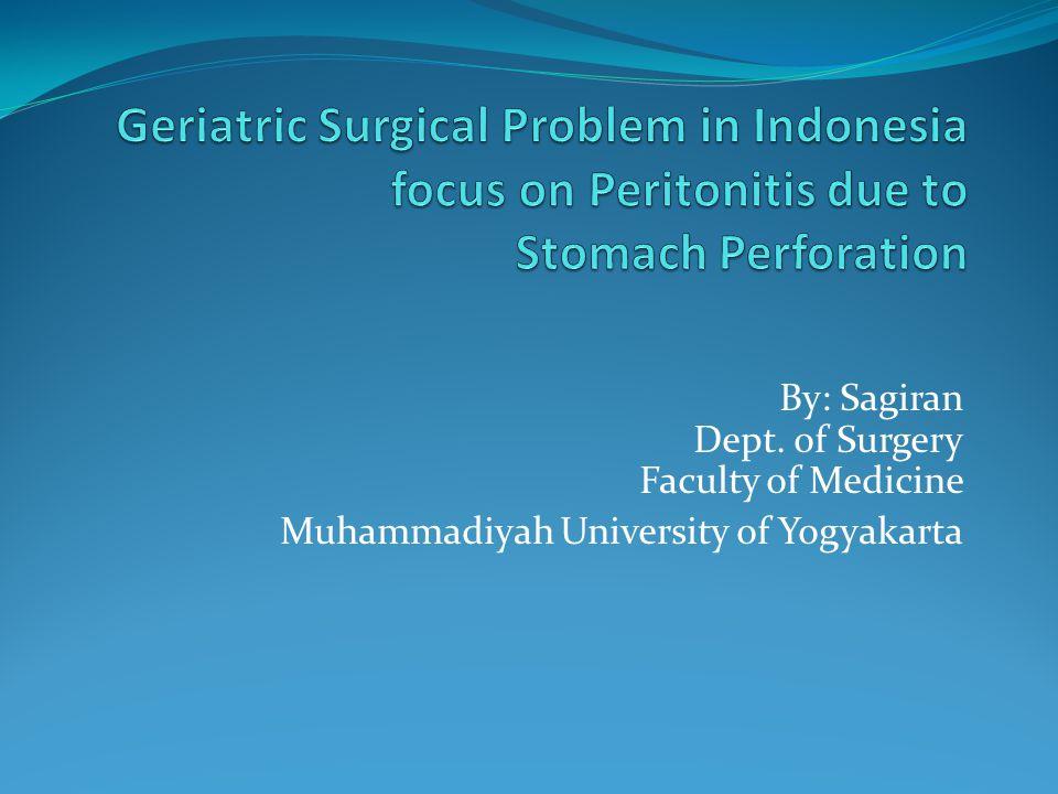 By: Sagiran Dept. of Surgery Faculty of Medicine Muhammadiyah University of Yogyakarta