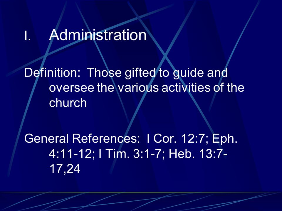H. Giving Definition: Those gifted to give freely of their resources far beyond the tithe to the needs of God's people. General References: Acts 2:44-