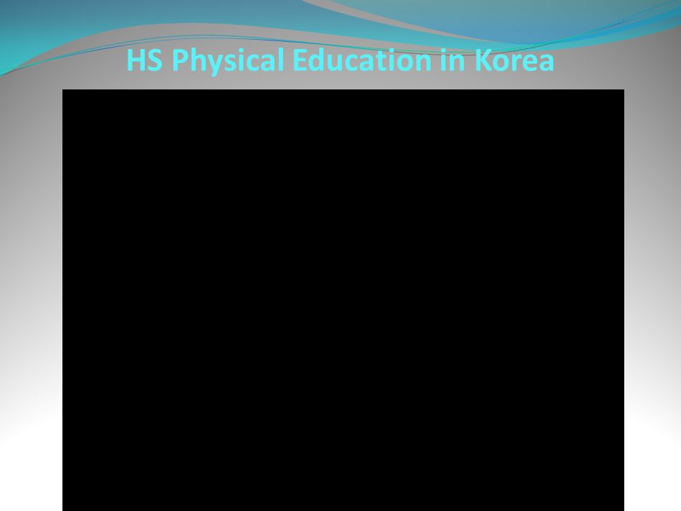 HS Physical Education in Korea
