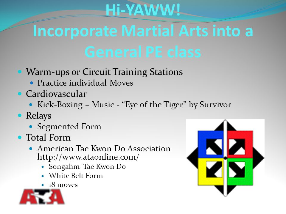 """Warm-ups or Circuit Training Stations Practice individual Moves Cardiovascular Kick-Boxing – Music - """"Eye of the Tiger"""" by Survivor Relays Segmented F"""